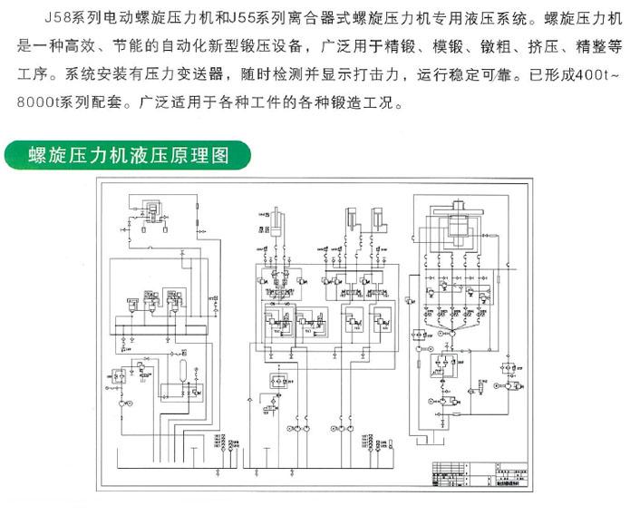 螺旋压力机液压系统